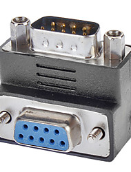 cheap -DB9 Male to Female Adapter 90 Degree Downward