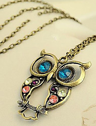 cheap -Owl Flower Carved Alloy Rainbow Blue Necklace Jewelry For Party Special Occasion Birthday Gift Causal Daily