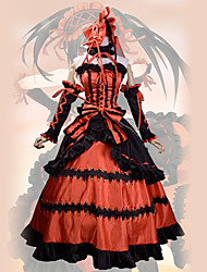 cheap -Inspired by Date A Live Kurumi Tokisaki Anime Cosplay Costumes Japanese Cosplay Suits Vintage Dress / More Accessories / Headband For Women's / Satin