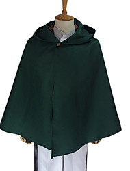 cheap -Inspired by Attack on Titan levi ackerman Anime Cosplay Costumes Japanese Cosplay Tops / Bottoms Solid Colored Long Sleeve Coat Shirt Pants For Men's / Waist Accessory / Belt / Strap / Badge