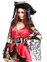 cheap -Sexy Pirate Transparent Mesh Women's Halloween Costume