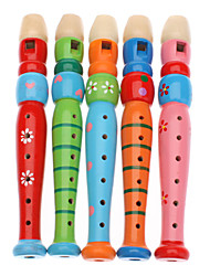 cheap -wooden flageolet recorder clarinet toy for kids random color