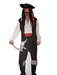 cheap -Pirate Cosplay Costume Men's Halloween Carnival Festival / Holiday Polyester Men's Carnival Costumes / Hat