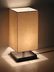 Недорогие -минималистский настольный светильник из массива дерева прикроватная настольная лампа ночная лампа с абажуром из льняной ткани для гостиной спальни