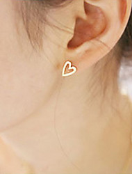 cheap -Women's Stud Earrings Heart Ladies Simple Style Fashion Earrings Jewelry Gold / Silver For Party Daily Casual