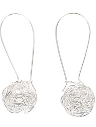 cheap -Women's Drop Earrings Ball Cheap Ladies Silver Plated Earrings Jewelry Silver For Party Daily
