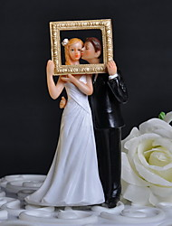 cheap -Cake Topper Classic Theme Classic Couple with Flower Gift Box