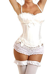 cheap -More Costumes Cosplay Costume Women's Halloween Carnival Festival / Holiday Polyester White Women's Easy Carnival Costumes / Corset / T-Back / Corset / T-Back