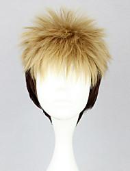 cheap -Attack on Titan Jean Kirstein Cosplay Wigs Men's 12 inch Heat Resistant Fiber Yellow Anime