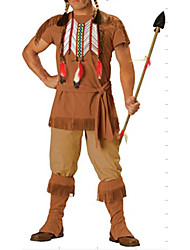 cheap -Primitive Warrior Cosplay Costume Outfits Adults' Men's Halloween Carnival New Year Festival / Holiday Polyester Men's Carnival Costumes / Headpiece