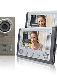 """Недорогие -Ночного видения 7 """"Видео-телефон двери для квартиры Соседи 2 Семьи дешевый набор"""