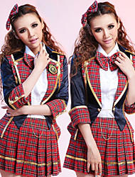 cheap -Uniforms Cosplay Costume School Uniforms Festival / Holiday Polyester Carnival Costumes