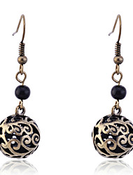 cheap -Women's Drop Earrings Ball Ladies Silver Plated Gold Plated Earrings Jewelry Silver / Golden For Party Daily Casual