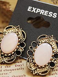 cheap -Women's Stud Earrings Luxury Vintage Victorian Gemstone Earrings Jewelry Pink For Daily