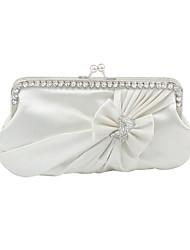 cheap -Women's Flower Satin Evening Bag Wedding Bags Red / Burgundy / Ivory / Fall & Winter