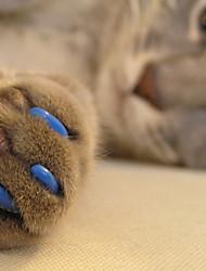 Недорогие -Кошка Уход Медобеспечение пластик Насадки на когти Черный Оранжевый Зеленый