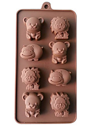 cheap -1pc Mold 3D Animal Silicone For Cake