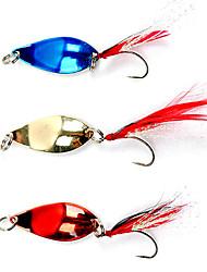 cheap -1 pcs Fishing Lures Hard Bait Metal Bait Feathers Bass Trout Pike Sea Fishing Freshwater Fishing Metal