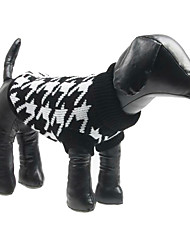 cheap -Dog Sweater Winter Dog Clothes Costume Woolen Plaid / Check Fashion XS S M L XL