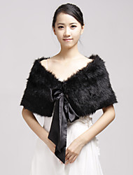 cheap -Shrugs Faux Fur Party Evening / Casual Wedding  Wraps / Fur Wraps With