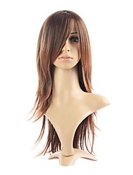 cheap -Synthetic Wig Straight Style Layered Haircut Wig Brown Synthetic Hair 24 inch Women's Brown Wig Long