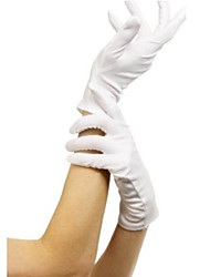 cheap -Cosplay Gloves Adults' Women's Christmas Halloween Carnival Festival / Holiday Terylene White Female Carnival Costumes Solid Colored