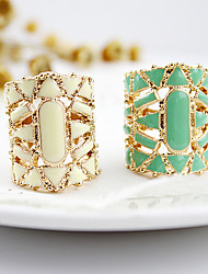 cheap -Women's Statement Ring White Black Green Acrylic Alloy Ladies Asian Fashion Daily Jewelry