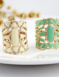 cheap -Statement Ring White Black Green Acrylic Alloy Ladies Asian Fashion / Women's