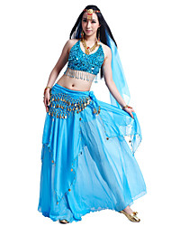 cheap -Belly Dance Outfits Women's Chiffon Beading / Sequin / Coin / Performance