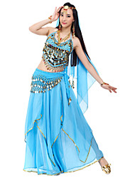 cheap -Belly Dance Outfits Women's Chiffon Beading / Sequin / Coin Natural / Performance