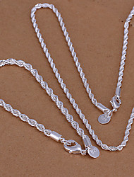 Недорогие -Twist серебряный комплект ювелирных изделий