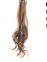 cheap -18.5 Inch Lace Clip Synthetic Curly Wavy Ponytail(Assorted 4 Colors)