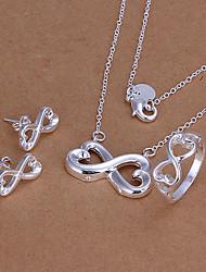 Недорогие -бесконечные символы Серебряный набор ювелирных изделий