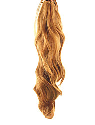 cheap -Lace Clip Blonde Synthetic Curly Wavy Ponytail