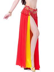 cheap -Belly Dance Skirt Women's Training / Performance Chiffon Tier / Split Front Skirt / Ballroom