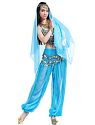 cheap -Belly Dance Outfits Women's Chiffon Coin / Beading / Sequin Top / Performance
