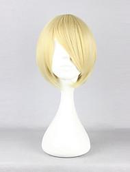 cheap -Hetalia Finland Tino Väinämöinen Cosplay Wigs Men's 12 inch Heat Resistant Fiber Golden Anime