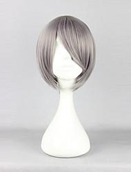 cheap -Cosplay Kaworu Nagisa Cosplay Wigs Men's 12 inch Heat Resistant Fiber Anime