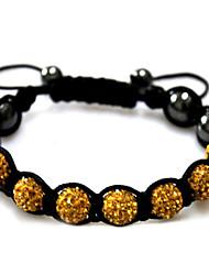 cheap -Women's Bead Bracelet Silver Bracelets Ladies Acrylic Bracelet Jewelry Black / Red / Green For Casual / Rhinestone