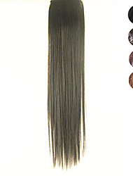 cheap -Clip in Synthetic Straight Hair Extensions with 2 Clips(Assorted 4 Colors)