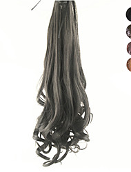 cheap -17 Inch Lace Clip Synthetic Curly Wavy Ponytail Pigtail Style(Assorted 4 Colors)