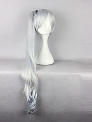 cheap -RWBY Weiss Schnee Cosplay Wigs Women's 36 inch Heat Resistant Fiber Silver Anime