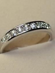 cheap -Band Ring Gold Silver Rhinestone Alloy Luxury Fashion