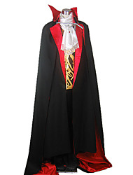 cheap -Vampire Cosplay Costume Party Costume Adults' Men's Halloween Festival / Holiday Silk Carnival Costumes Solid Colored