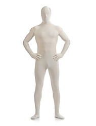 cheap -Creamy White Unisex Lycra Full Body Zentai