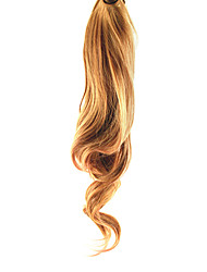 cheap -Lace Clip Blonde&Pink Mixed-color Synthetic Curly Wavy Ponytail