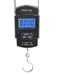 Недорогие -Портативный 45 кг Вес On / Off тара БЛОК Цифровые электронные Висячие Шкала Черный