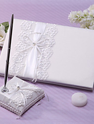 cheap -Guest Book / Pen Set Lace Garden Theme With Rhinestone / Sash