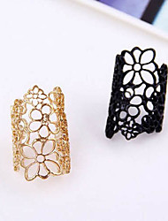 cheap -Women's Band Ring Statement Ring Gold Black Lace Alloy Ladies European Gothic Party Casual Jewelry filigree Adjustable