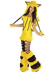 cheap -Cunning Fox Bright Yellow Fluffy Apparel Women's Halloween Costume